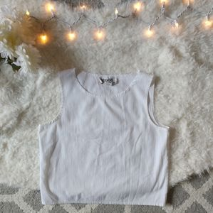 Vintage Briggs New York White Crop Top